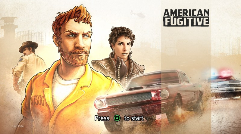 American Fugitive title screen.