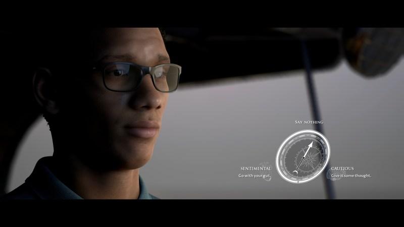 QTE dialogue scene