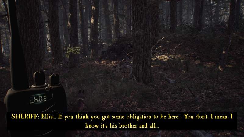 Dialogue scene illustrating the size of the subtitle text.