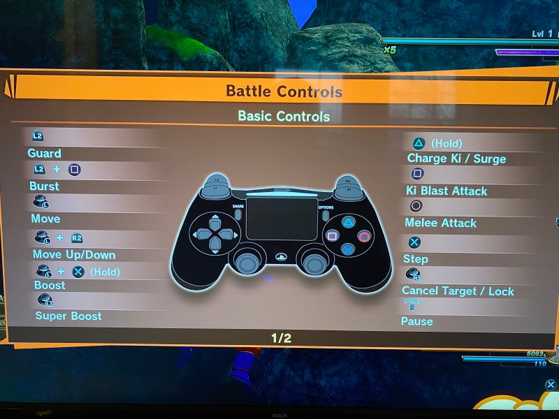 Battle controls page 1.