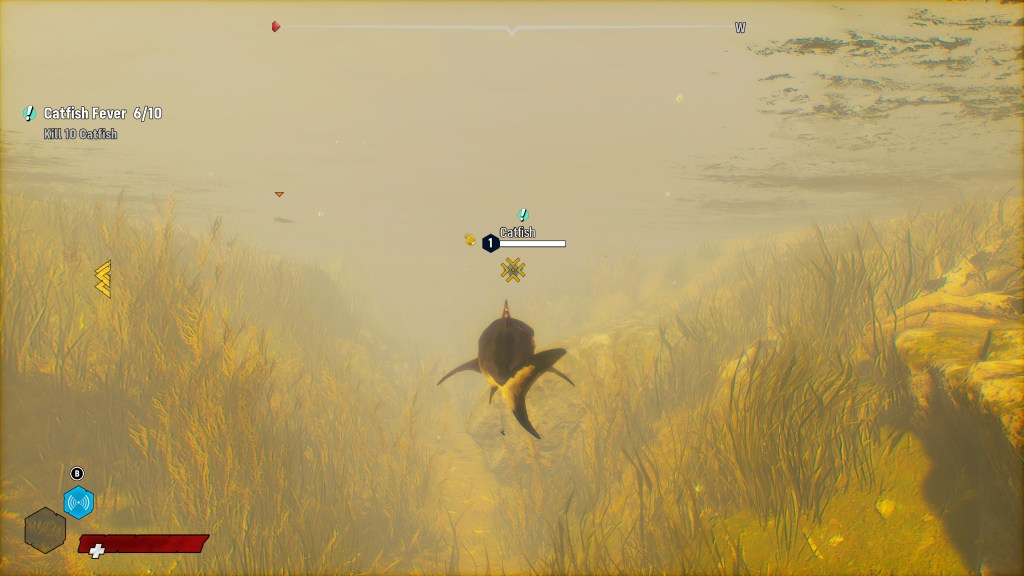 Illustrating the auto-targeting of nearby enemies.