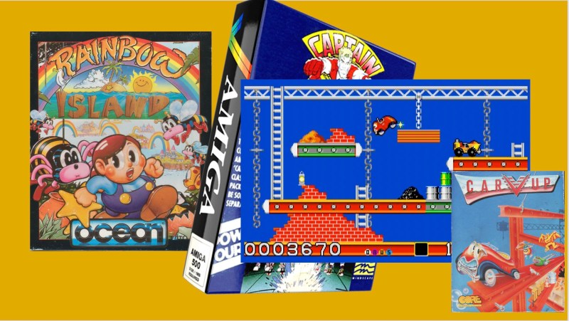 Game box art of Rainbow Island, Captain Planet and Carvue