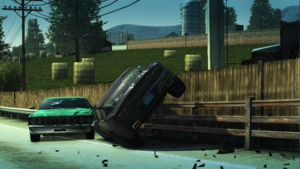 Burnout Paradise Remastered two cars crashed against a barrier