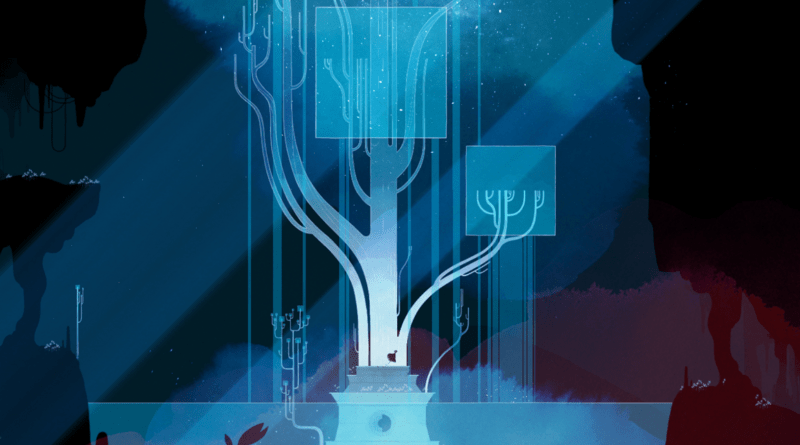 A dark and monotone level from Gris.
