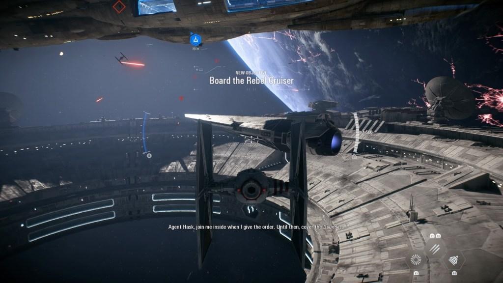 Star Wars Battlefront 2 - Spaceship flying level