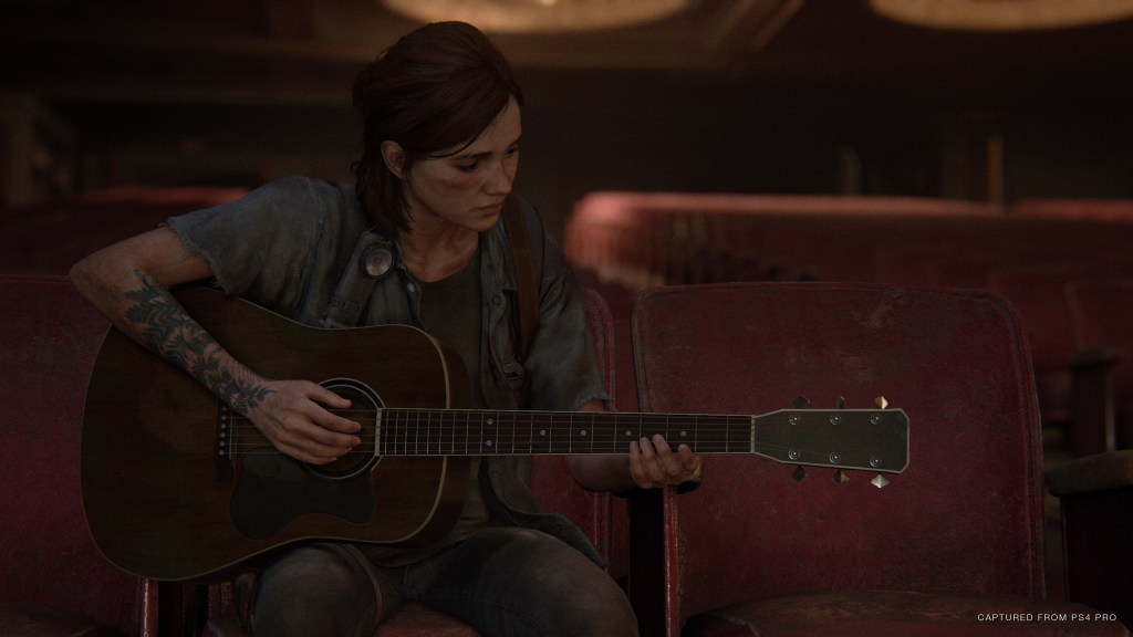 The Last of Us 2 - Ellie playing her guitar.