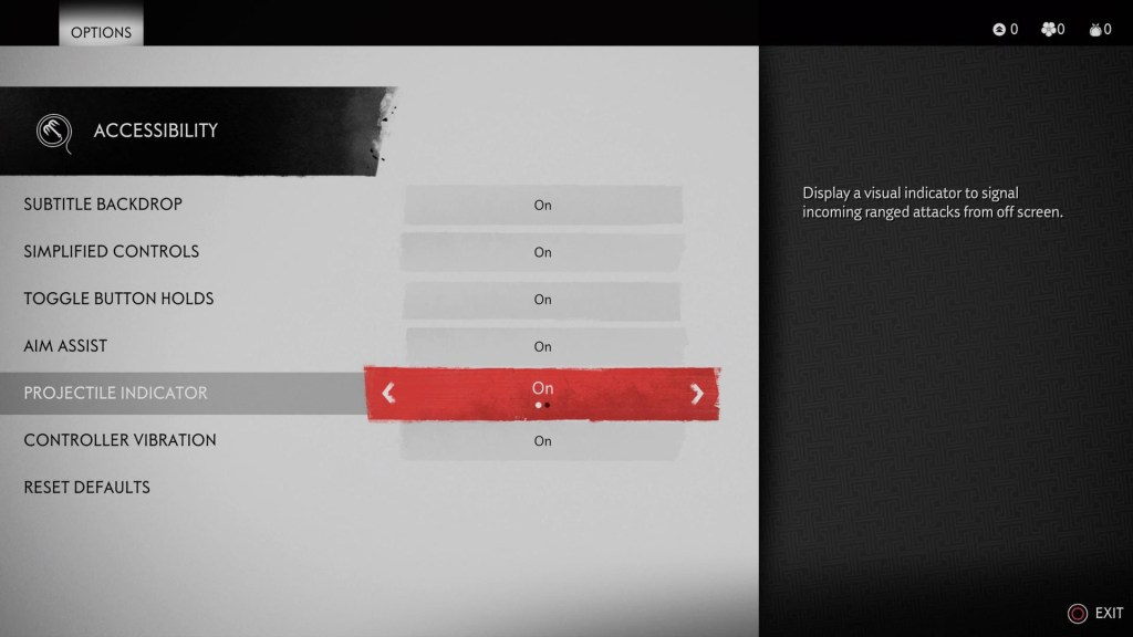 The accessibility menu.