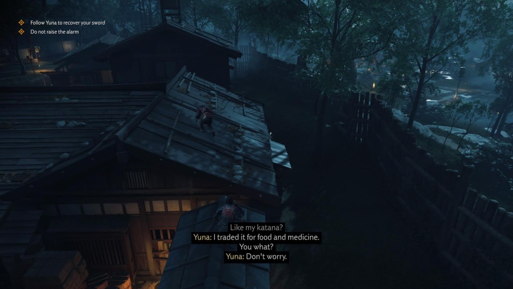 Illustrating the in-game subtitles.