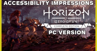 Horizon Zero Dawn: Complete Edition — Accessibility Impressions