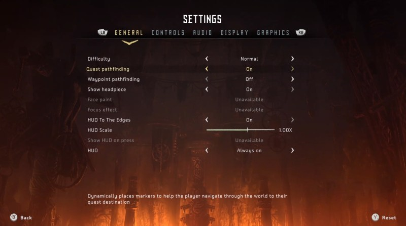 Horizon Zero Dawn: Complete Edition - PC Version. Settings Menu. This is also showing there is no accessibility menu.