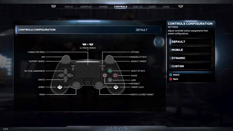 Illustrating the control scheme options.