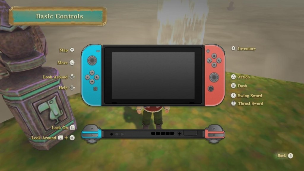 The control scheme image.