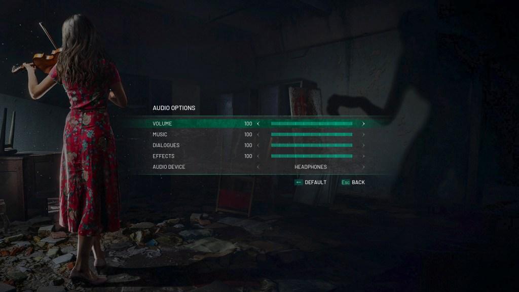 chernobylite audio options screen