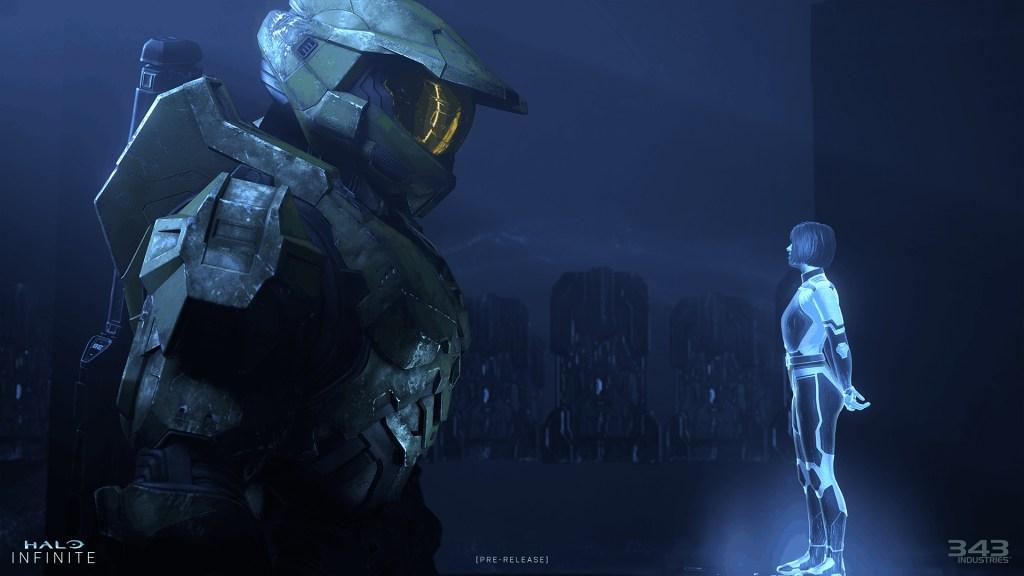halo infinite screenshot of Chief and Cortana