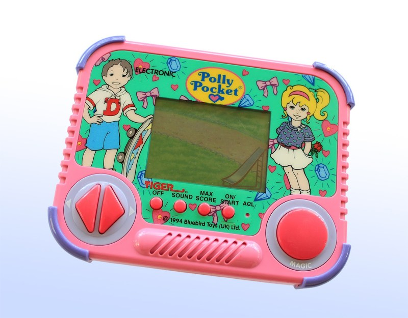 Polly Pocket console for video game adhd feature
