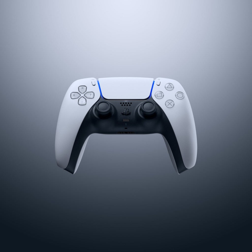 Front view of the DualSense controller.