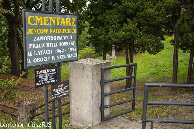 Obóz jeniecki w Szebniach - Cmentarz jeńców radzieckich na Bierowskich Dołach.