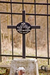 Krzyż na grobie Piotra Stygara