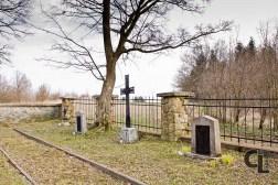 Krzyż łaciński w tej formie obecny również na cmentarzu nr 76 w Siarach (projektowany przez Hans Mayra)