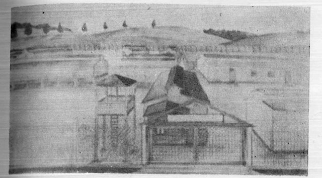 Obóz jeniecki w Szebniach - szkic