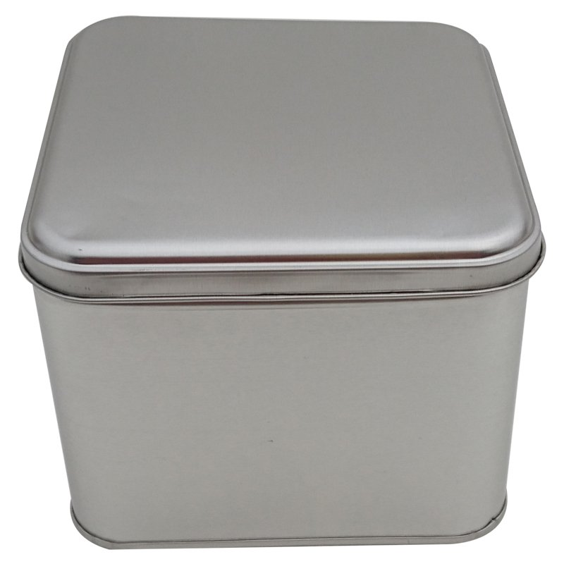 Cr25L 166x166x100 Square Tin Box