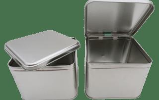 Cr25 SLIP & HINGED LID metal tins