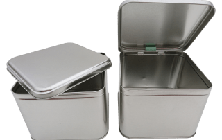 Cr25 SLIP & HINGED LID metal tins