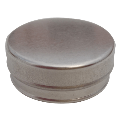 Cr02 44x14 14g seamless metal tin for ointment, wax, mints, balm and more
