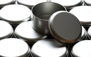 Round Metal Tins stacked