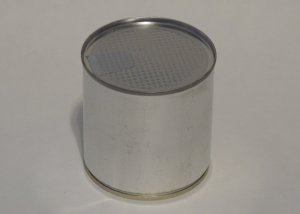 Small Round Tin Can 73x62mm sealed