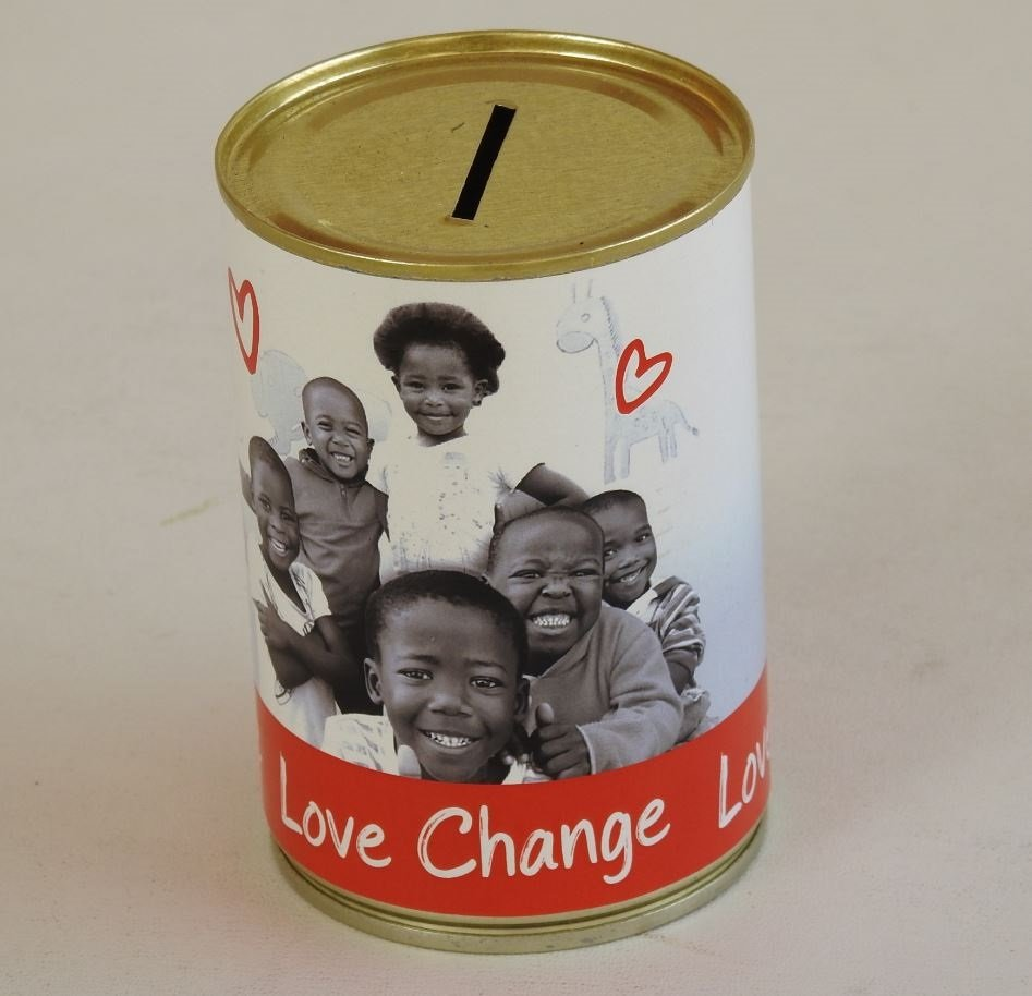 Branded MBA2 Tin Can with Money Box slot