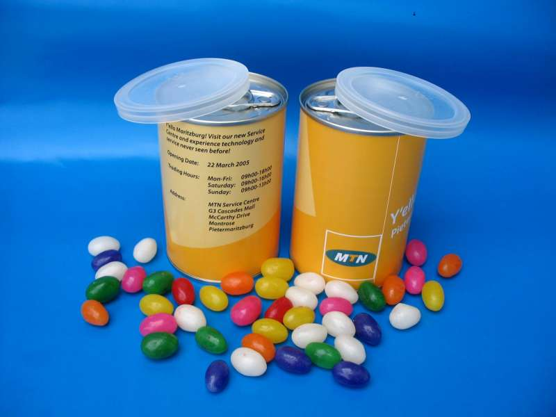 Packaging Tins for Jelly Beans