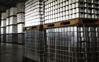 Smooth Can Pallets Stacked in CanIt's warehouse
