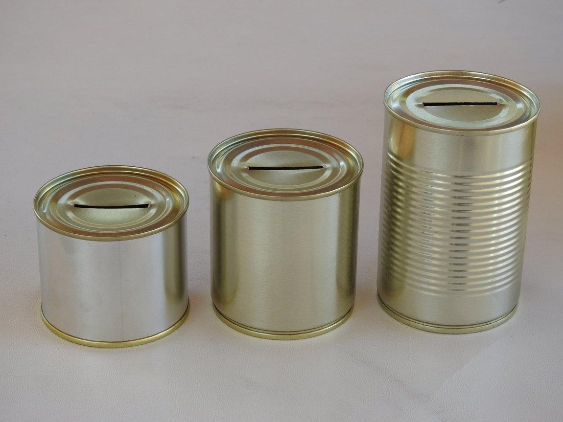 Groupshot of Money Tins
