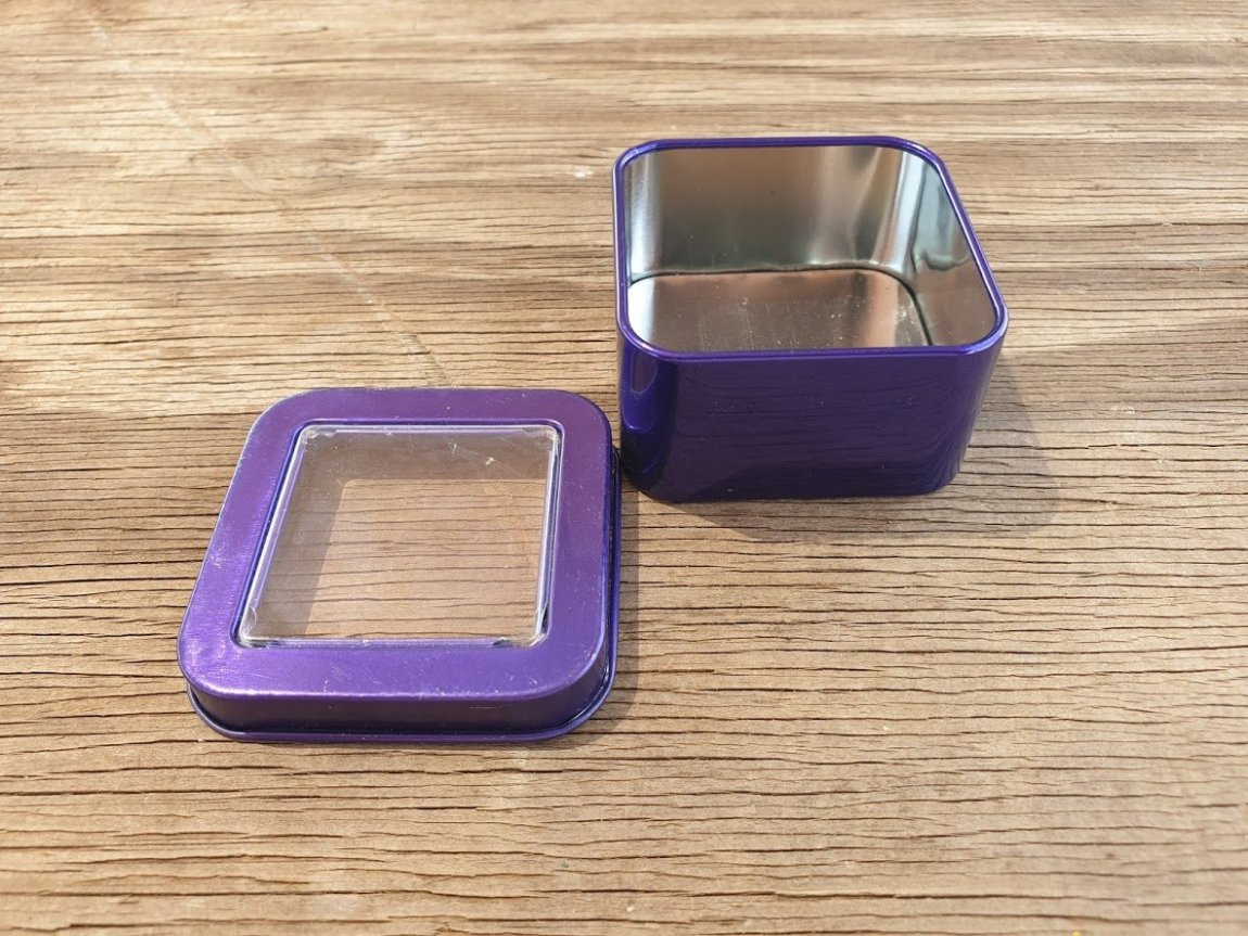 Purple Square Window Tins