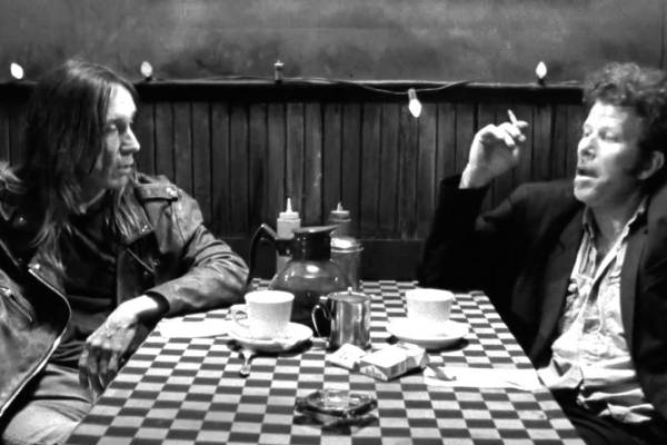 CIBASS-Jim-Jarmusch-Tom Waits e Iggy Pop en coffee and cigarettes