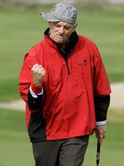 Bill Murray jugano al golf