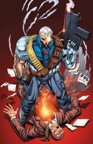 CIBASS Cable disparando a Charles Xavier