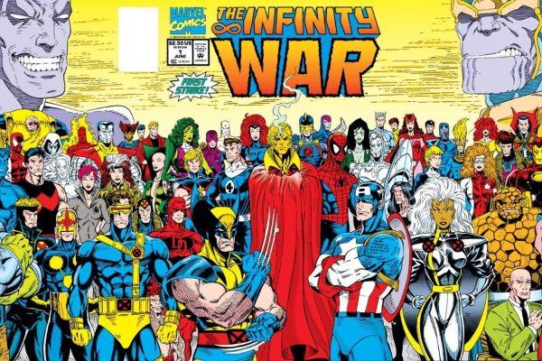 CIBASS Portada del primer número de La Guerra del Infinito dibujada por Ron Lim y Al Milgrom
