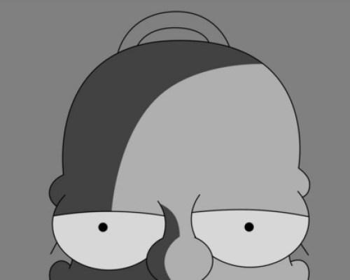 CIBASS Homer en blanco y negro