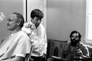 Marlon-Brando-Al-Pacino-and-Francis-Ford-Coppola-on-the-set-of-The-Godfather