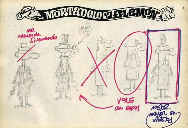 CIBASS Bocetos de Mortadelo