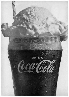 Y de postre: Coca-Cola con helado de vainilla