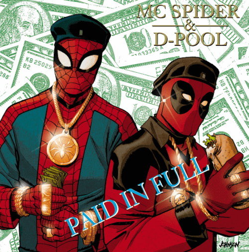 Spiderman y Masacre as Eric B. and Rakim