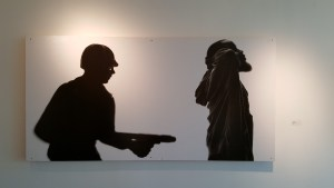 Photo printed on plywood, by Donald Black Jr