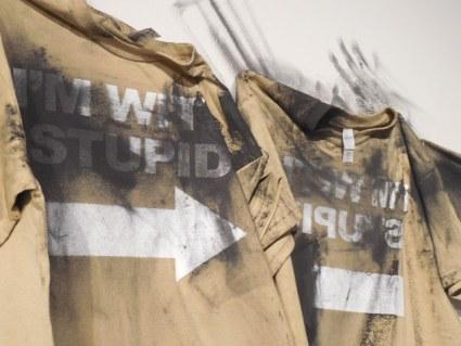 "Blake Cook, ""Brownshirts."" Mixed media installation."