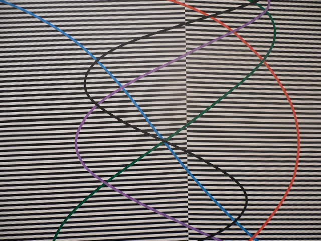 """Detail from James March's """"Untitled #5 Op Series,"""" acrylic on canvas."""