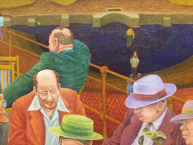 "Detail from Joe Stavec's ""The Decision Was Made,"" oil on canvas."