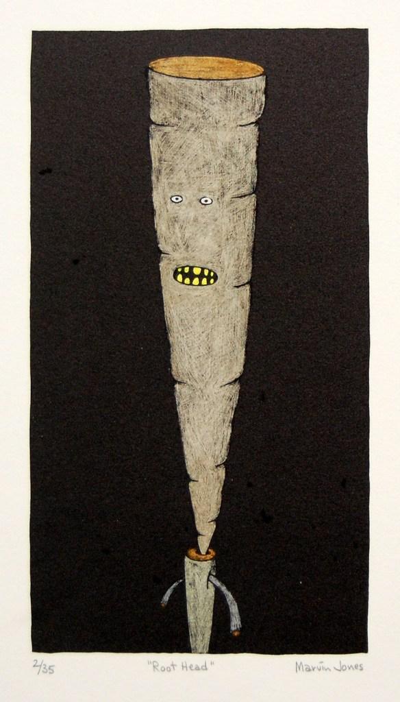 """Marvin Jones, Root Head 2/35, 13"""" x 9"""", print"""
