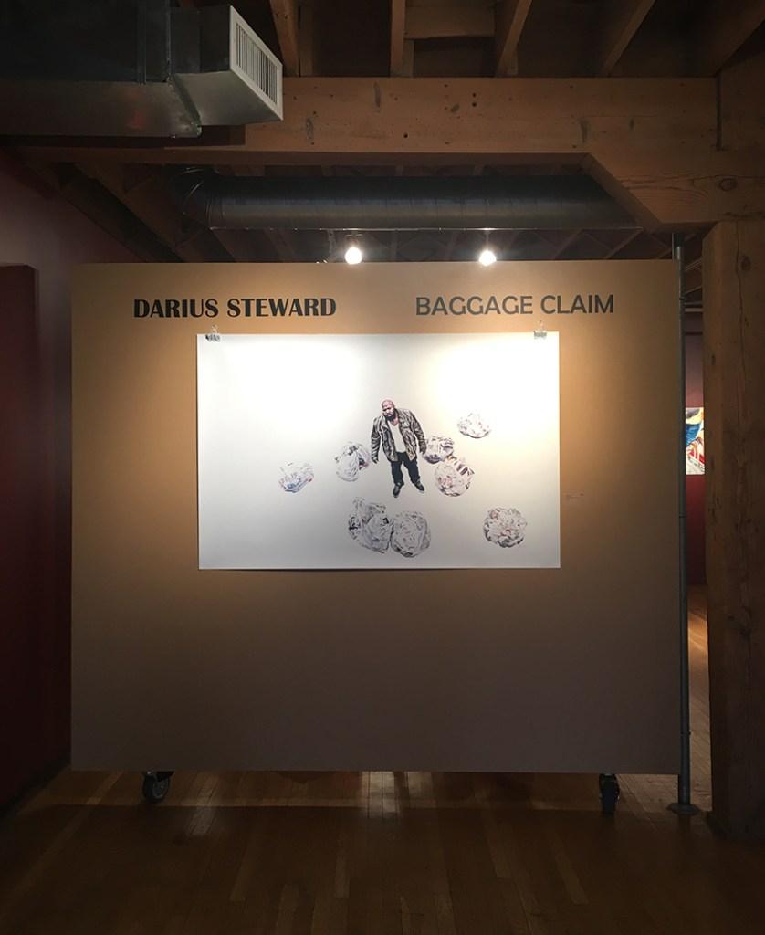 "Darius Steward, My Inheritance, Gouache and watercolor on yupo, 40"" x 60"""